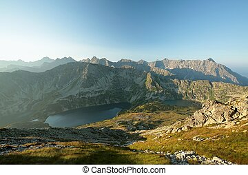 Tatra Mountains at dawn - High mountains around the valley...