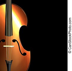 image of abstract fiddle - on black background is the...