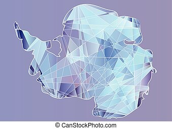antarctica. absract silhouette of south continent