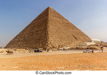 Pyramid of Cheops - a horizontal view of the Great Pyramid...
