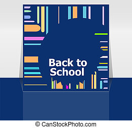 palavra, escola, conceito, Educação, costas