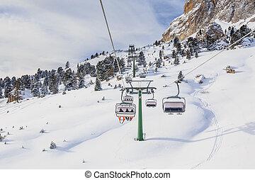 Ski resort of Selva di Val Gardena, Italy