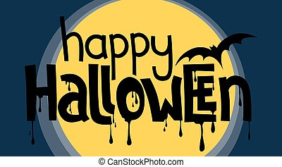 Happy Halloween lettering card