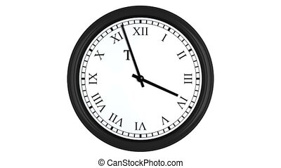 Time is money displayed on spinning clock with Roman numerals