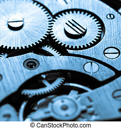 old clocks gears - Close up view of old clocks gears