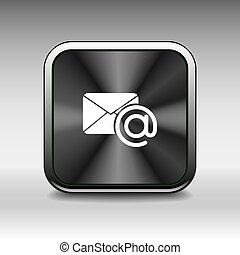 illustration email icon outbox flat box inbox - vector...