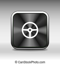 wheel icon steering car circle vehicle
