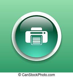 fax, ícone, vetorial, desenho, Impressora, documento,...