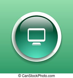 Computer display isolated icon screen monitor