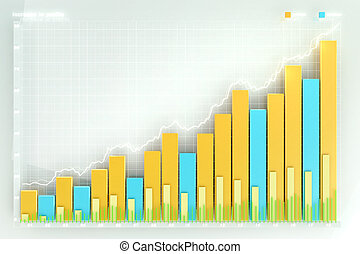 illustration of the financial graph on a white background
