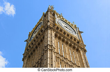 Big Ben on the blue sky background