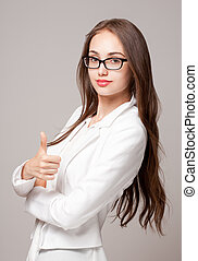 Smart young woman. - Portrait of an elegant smart young...