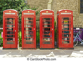 Red phone booths in Cambridge