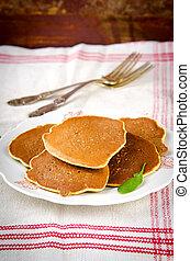 Vegetarian gluten free Spinach pancakes