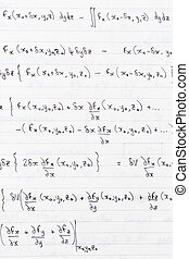 Scientific formulae - Study notes written on lined paper...