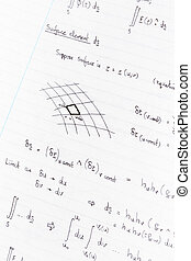 Physics equations - Surface integration equations and...