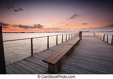 Sunset over Botany Bay Sydney Australia