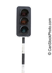 Devices Traffic Signal. - Devices Traffic Signal isolated on...