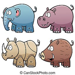 Animals set - Vector Illustration of Animals set