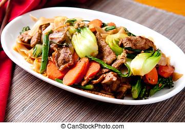 pad see ew - decadent thai beef stir fry pad see ew style