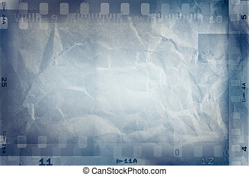 Film frames - Film negative frames on blue background
