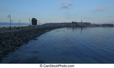 Nessebar Island At Dusk