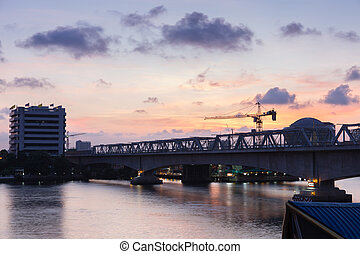 Rama VI Bridge - Morning photo Rama VI Bridge , Bangkok ,...