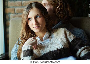 Amorous girl