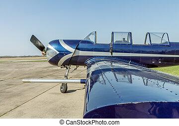 sport airplane close