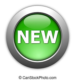 new button - new internet button illustration on white...