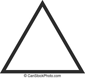 Triangle, design, pyramid icon vector image Can also be used...