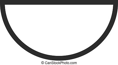 Semi circle clipart