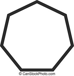 Octagon - Geometry, octagon, hexagon icon vector image. Can...