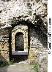 Roman ruins- Tunisia - 2nd century Roman Antonine Baths at...
