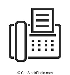 Fax Machine - Fax, machine, telephone icon vector image. Can...
