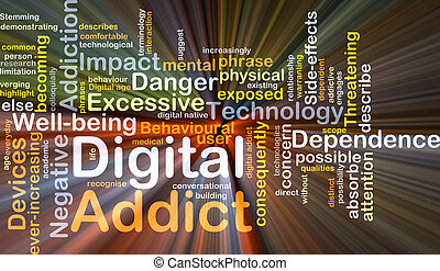 Digital addict background concept glowing - Background...