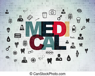 Healthcare concept: Medical on Digital Paper background
