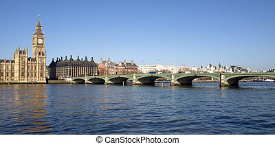 Westminster Bridge - Westminster bridge panorama view in...