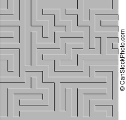 Complex Maze - A maze design with raised contours on gray...