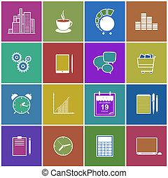 Stylish modern flat icons collection - Stylish modern flat...