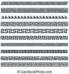 Old greek border designs grunge
