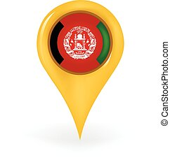 Location Afghanistan - Map pin showing Afghanistan