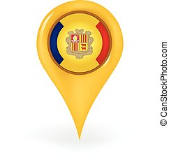 Location Andorra - Map pin showing Andorra.