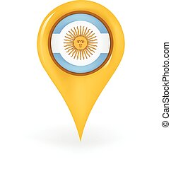 Location Argentina - Map pin showing Argentina