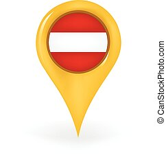 Location Austria - Map pin showing Austria