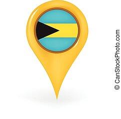 Location Bahamas - Map pin showing the Bahamas