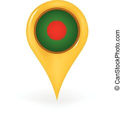 Location Bangladesh - Map pin showing Bangladesh