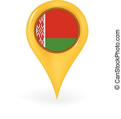 Location Belarus - Map pin showing Belarus.