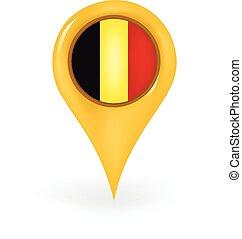 Location Belgium - Map pin showing Belgium.