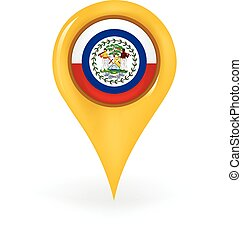 Location Belize - Map pin showing Belize.